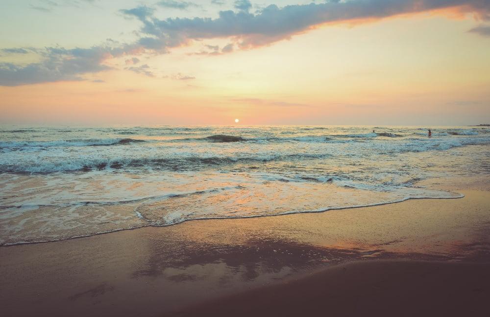 spiagge in toscana spiaggia al tramonto