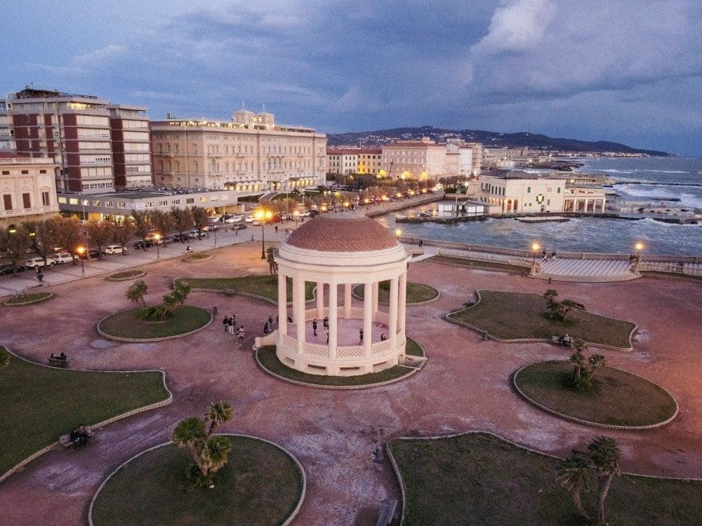 dove dormire a Livorno, vista dall'alto di terrazza Mascagni